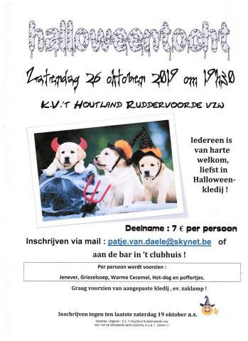 Hondenschool KV 't Houtland - Halloweenwandeling
